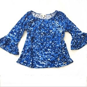 [MICHAEL KORS] BLUE BELL SLEEVE BLOUSE SIZE M